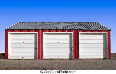 Storage Locker Doors - Three Storage Locker Doors with a...