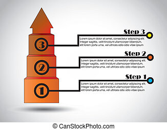 three success steps arrow concept