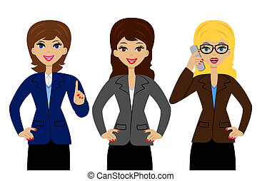 three successful business woman