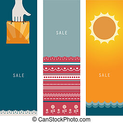 Three Summer Sales Banners