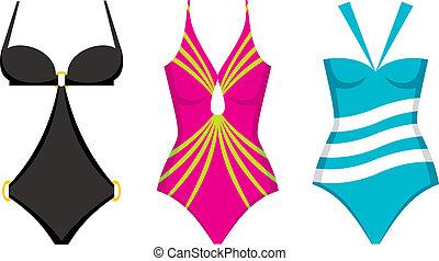 Three swimming suits