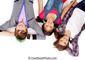 Three teenagers