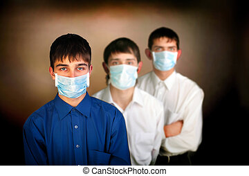 teenagers in the mask
