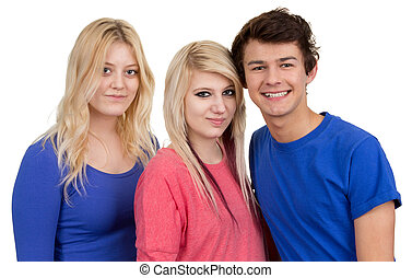 Three teenagers together