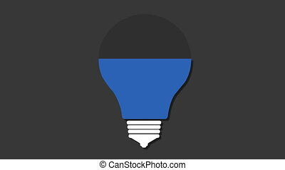 Three title box, visualization shape a light bulb,...