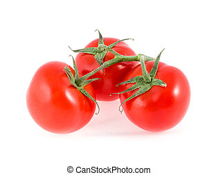 three tomatoes on a branch