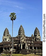 Three towers of Angkor Wat temple