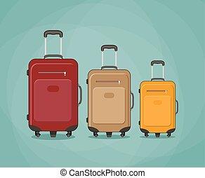 three Travel bag