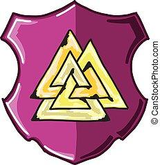 Three Triangles Shield Sketch