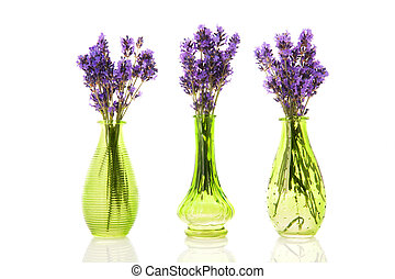 Three vases Lavender