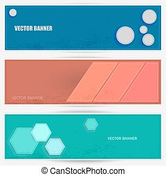 Three vector banners