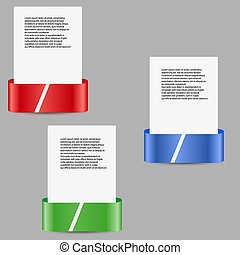 three vector color tags