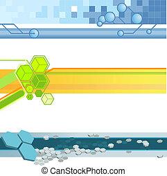 website banner backgrounds - Three vector corporate...