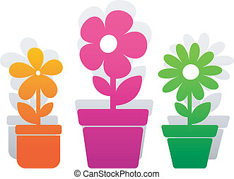 Three vector flower over white. EPS 8, AI, JPEG