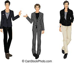 three vector men