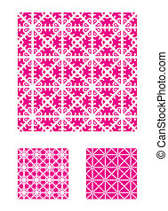 Three Vector Patterns that tiles seamlessly.