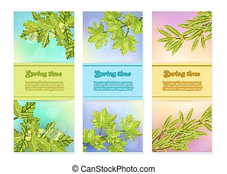 Three Vertical Branch Banners