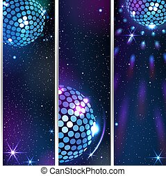 Three Vertical Disco Backgrounds.