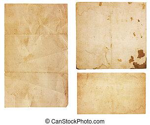 Three Vintage Paper Scraps