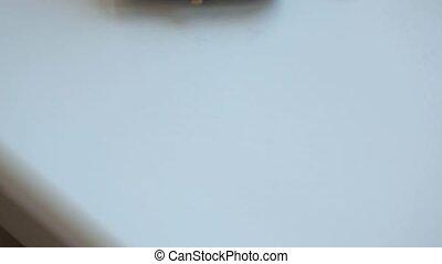 Three wedding rings on white background
