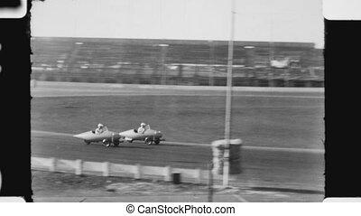 Three wheeler race. - Three wheeler race at Oakland Stadium...