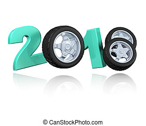 Three Wheels 2018 Design with a white Background