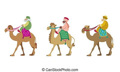 Three Wise Men Cycle - The three wise men and their camels...