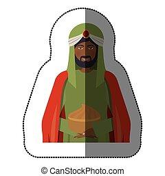three wise men icon vector illustration graphic design