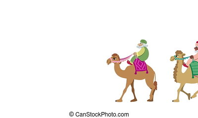 Three Wise Men Isolated - The three wise men and their...