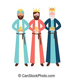 three wise men king with gift epiphany