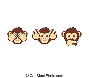 Three wise monkeys - See no evil, hear no evil, speak no...