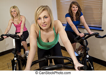 Three Women At The Gym