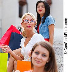 Three Women in City