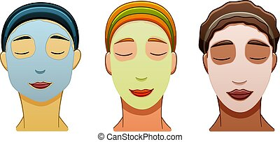 Three women of different races with face masks