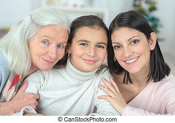 three women of the family