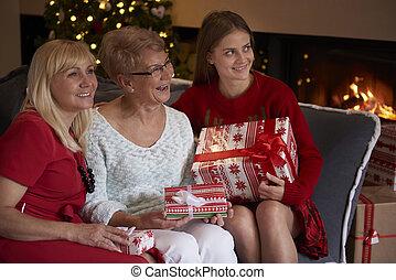 Three women of three generations