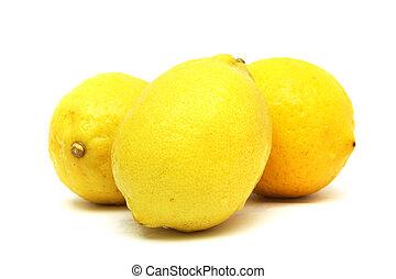 Three Yellow Lemons