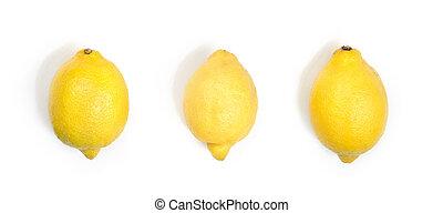 Three yellow lemons.