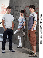 Three young boys