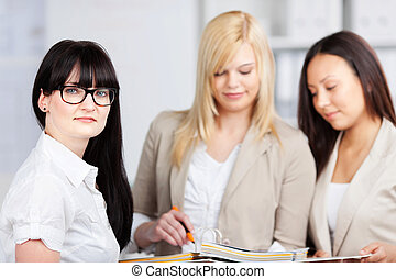 young female businesspeople
