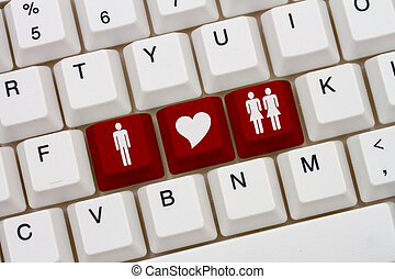 Threesome Internet Dating Sites, A close-up of a keyboard...