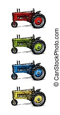 three?wheeled, traktor