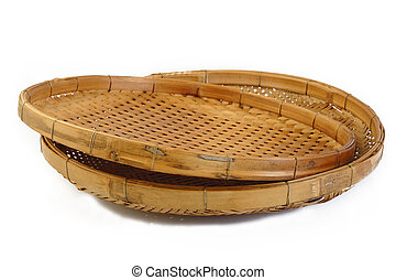threshing basket on white background
