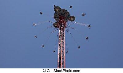 Thrill Rides At Amusement Park
