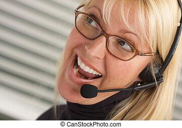 Thrilled Businesswoman