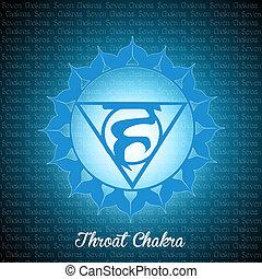 Throat chakra - illustration of throat chakra