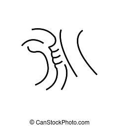 Throat, Medical Doctors Otolaryngology icon, line icon Style
