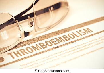Thromboembolism. Medicine. 3D Illustration. - Diagnosis -...