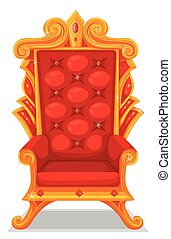Throne made of gold
