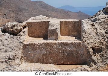 Thrones of Zeus and Hekate, Halki - The thrones of Greek...